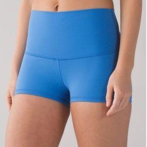 lululemon- Boogie Shorts- High Waist-Blue- Size 6